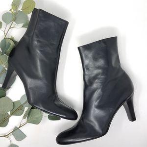 GIANNI BINI Leather Heeled Boots 9M